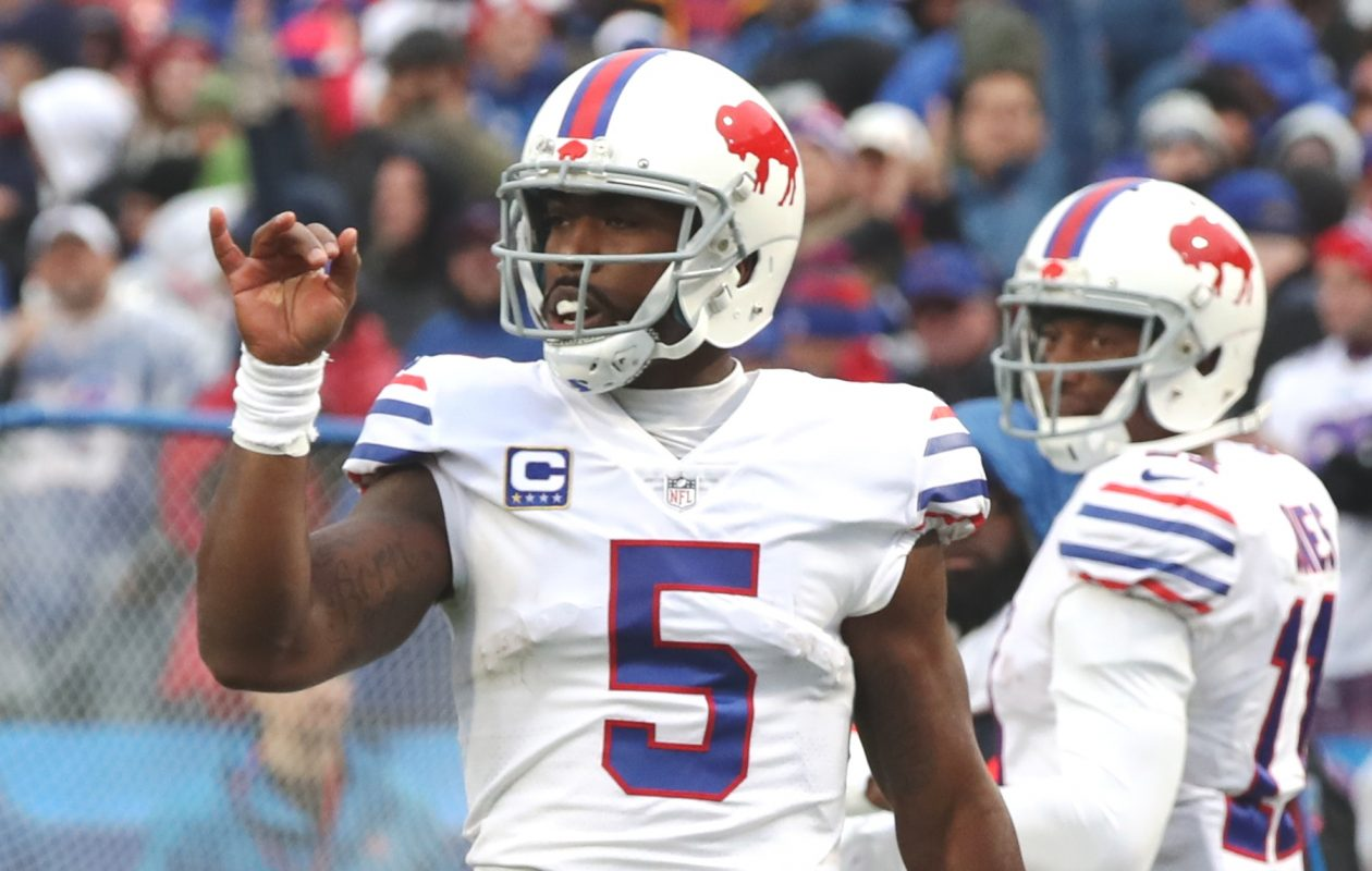 Tyrod Taylor had by far his least productive season throwing downfield. (James P. McCoy/Buffalo News)