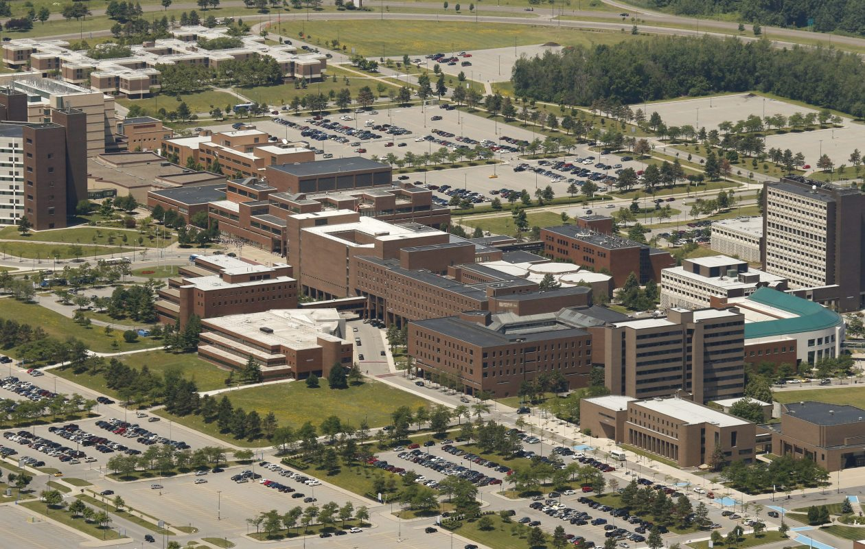 An aerial view of the University at Buffalo North Campus. (Derek Gee/Buffalo News file photo)