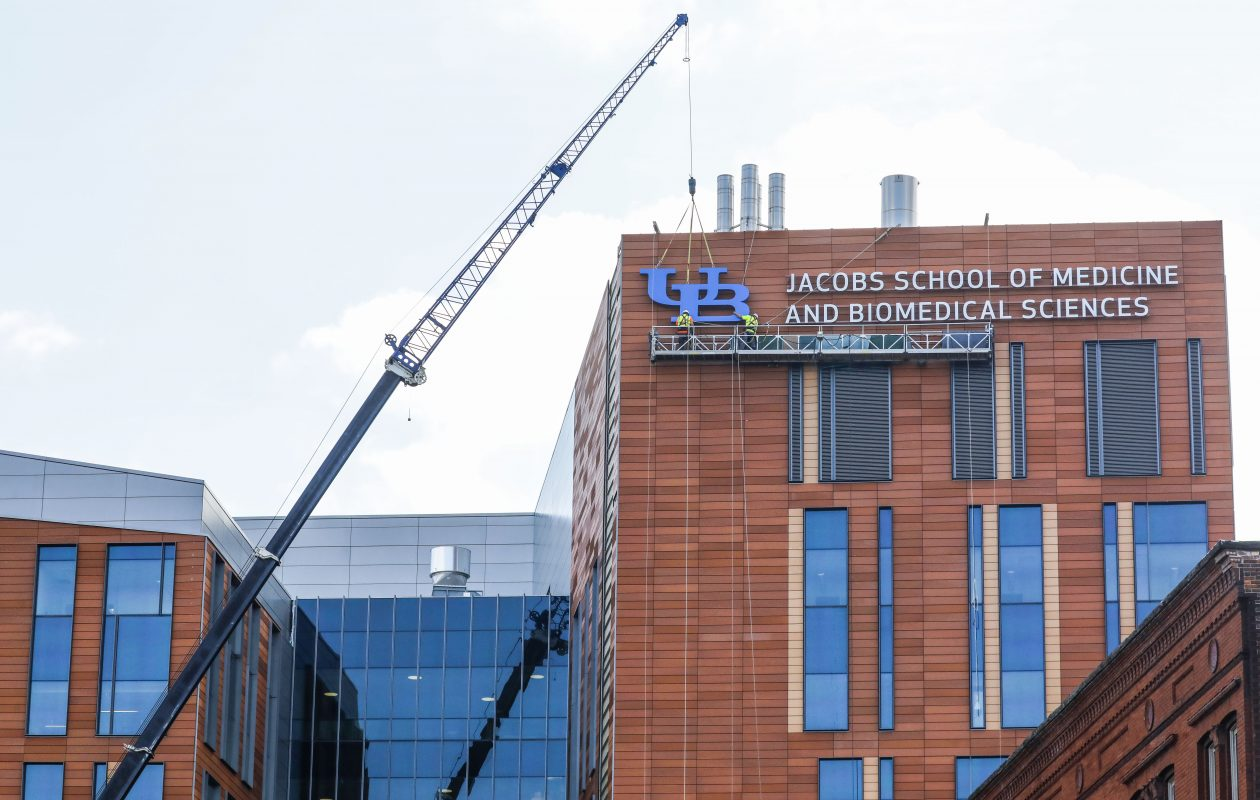 The University of Buffalo Jacobs School of Medicine and Biomedical Sciences is scheduled to open in January on the Buffalo Niagara Medical Campus.  (Derek Gee/Buffalo News)
