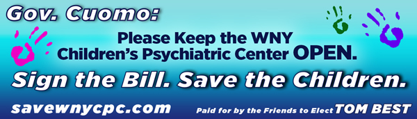 The billboard in support of keeping the Western New York Children's Psychiatric Center in West Seneca is at Seven Corners in Hamburg.