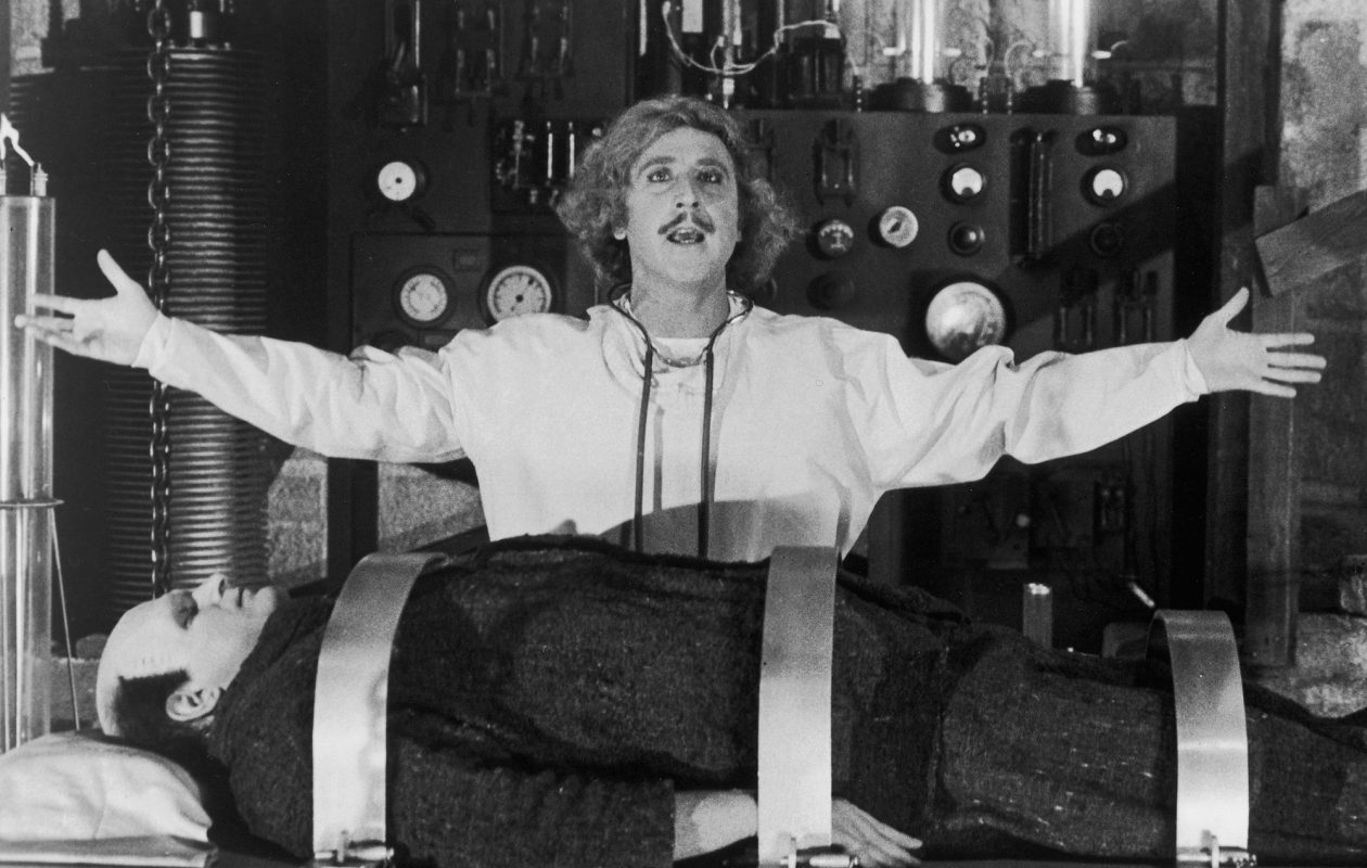 "Gene Wilder stars in the Mel Brooks comedy ""Young Frankenstein."""