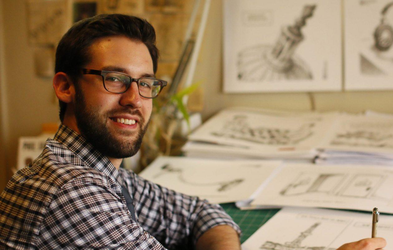 Work by Buffalo News Editorial Cartoonist Adam Zyglis is on view through Nov. 9 in the Nichols School Art Gallery. (Derek Gee/Buffalo News)