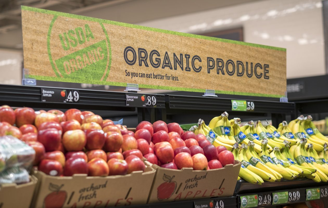 Aldi's latest remodel highlights organic produce. (Contributed photo)
