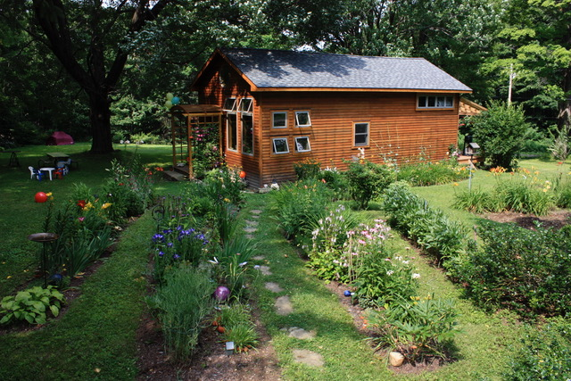 A summertime view of Bonnie Bowen's year-round cabin in Cherry Creek. (Photo by Bonnie Bowen)