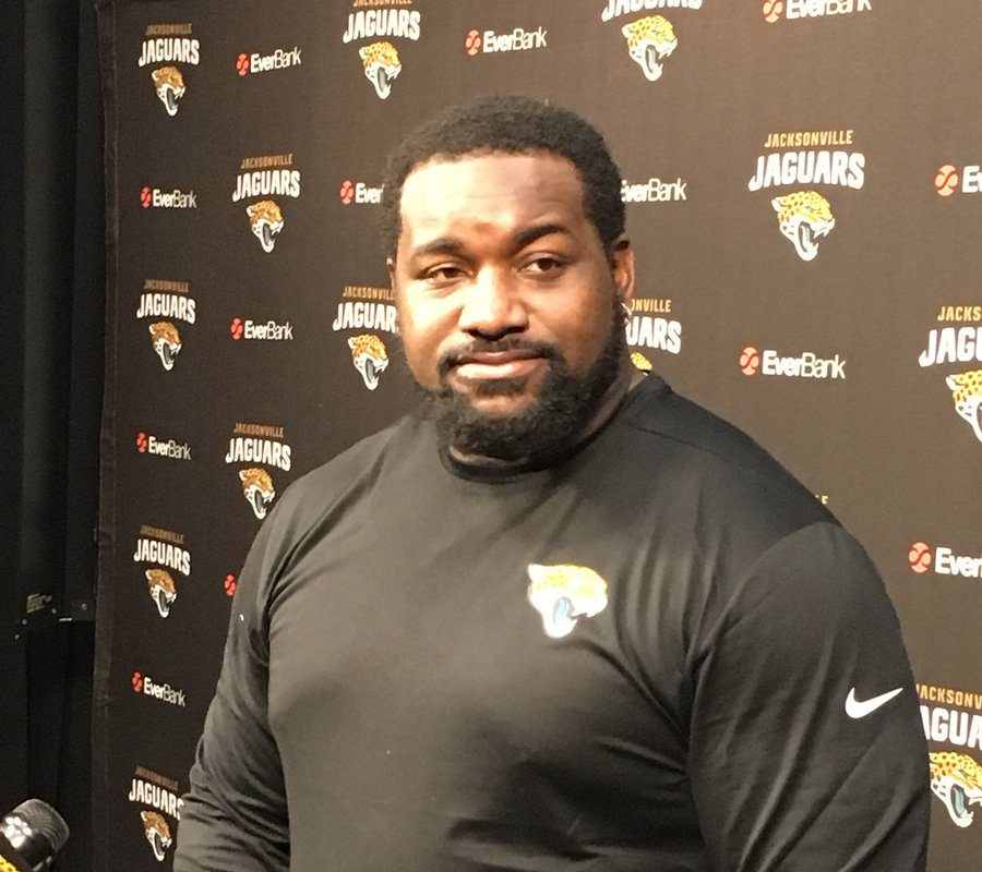 Marcell Dareus at a news conference in Jacksonville. (Tim Graham/Buffalo News)