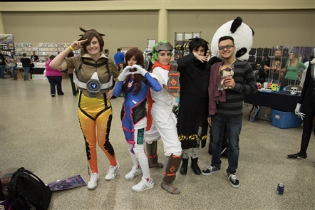 Smiles at Buffalo Comicon at Convention Center