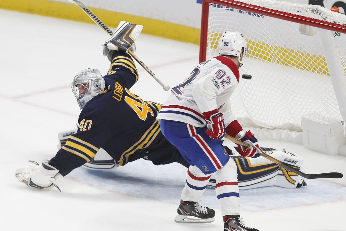 Jonathan Drouin scored on Robin Lehner in the shootout to give Montreal the win. (Mark Mulville/Buffalo News)