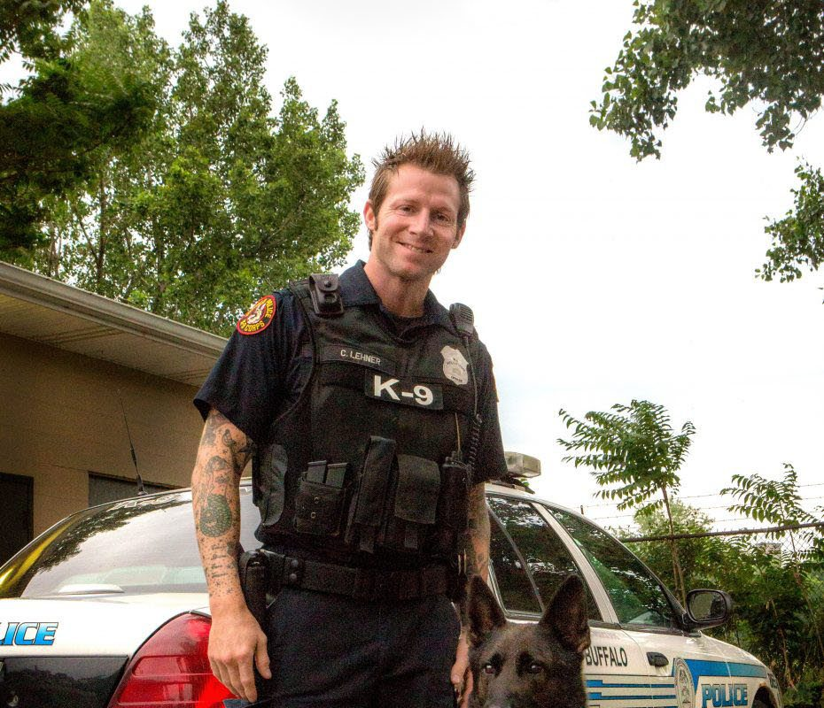 Officer Craig Lehner was a member of the K-9 unit, working with Shield, as well as the underwater recovery team. (Photo courtesy of Shannon Davis)