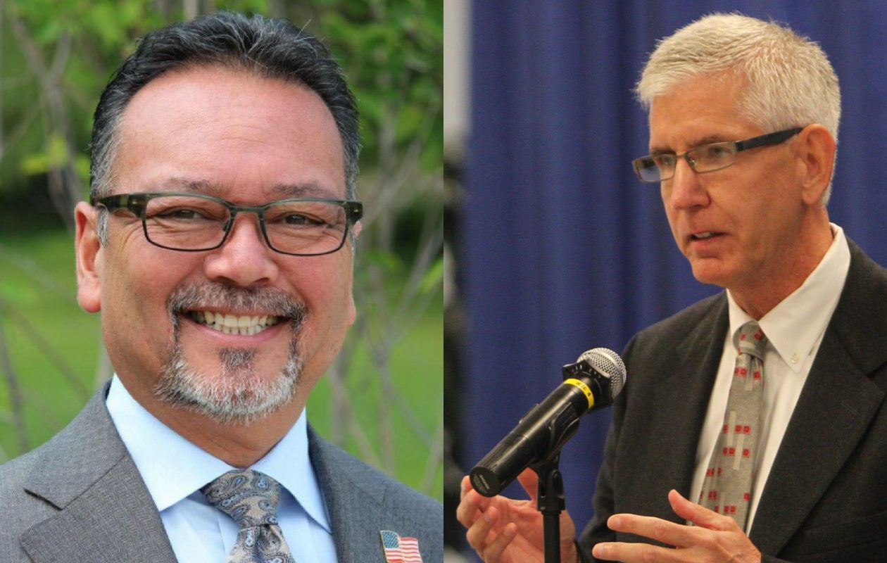 Guy R. Marlette, left, a former Amherst councilman, faceed incumbent Thomas A. Loughran in a rematch of the 2015 race for Erie County Legislature's 5th District.