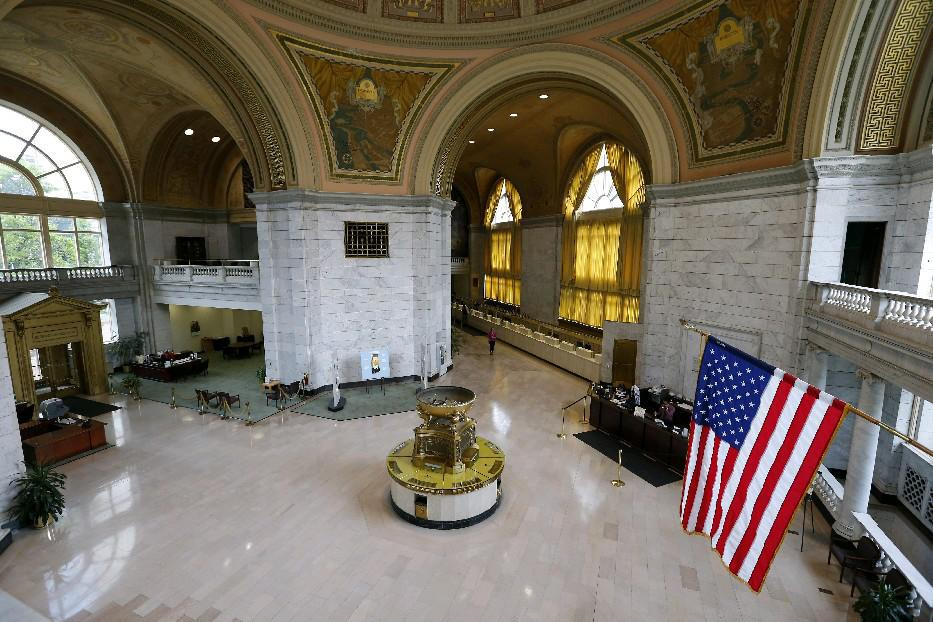 Interior of M&T's branch at Main and Huron. (Mark Mulville/Buffalo News)