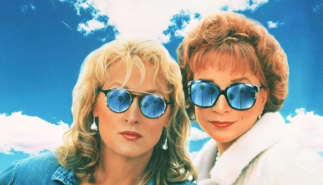 "Meryl Streep, left, and Shirley MacLaine star in ""Postcards from the Edge."""