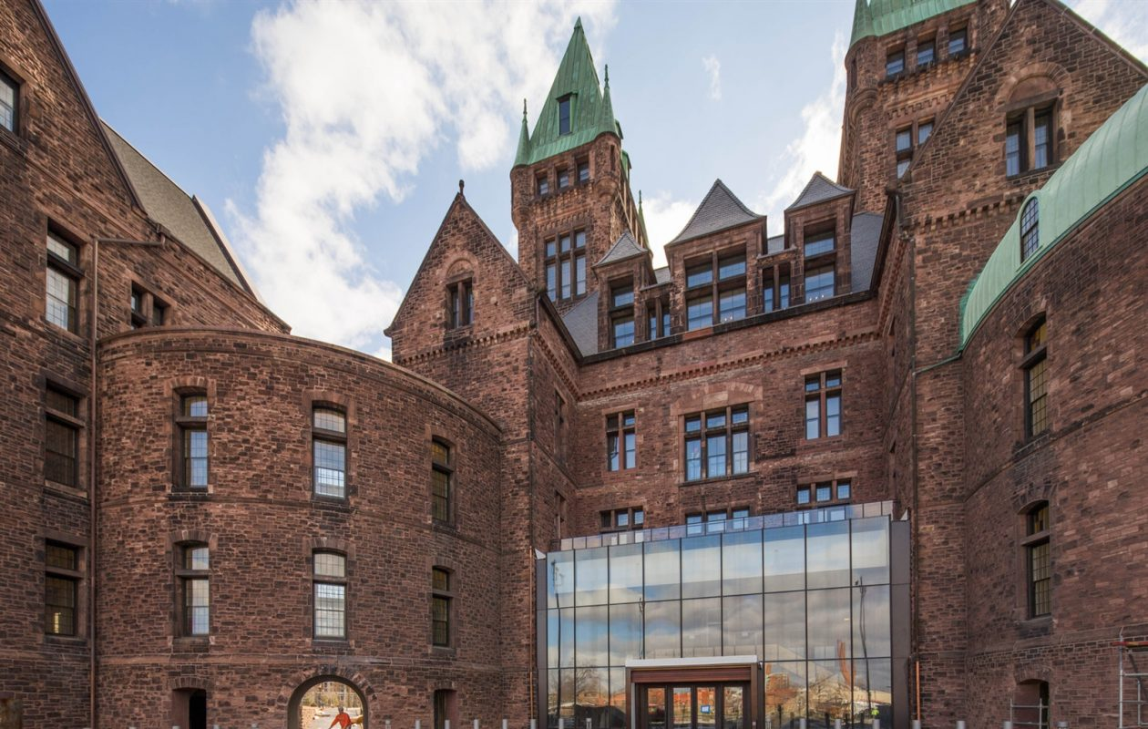 The restoration of the Richardson Olmsted Campus on Forest Avenue benefited from federal historic tax credits. (Derek Gee/Buffalo News)