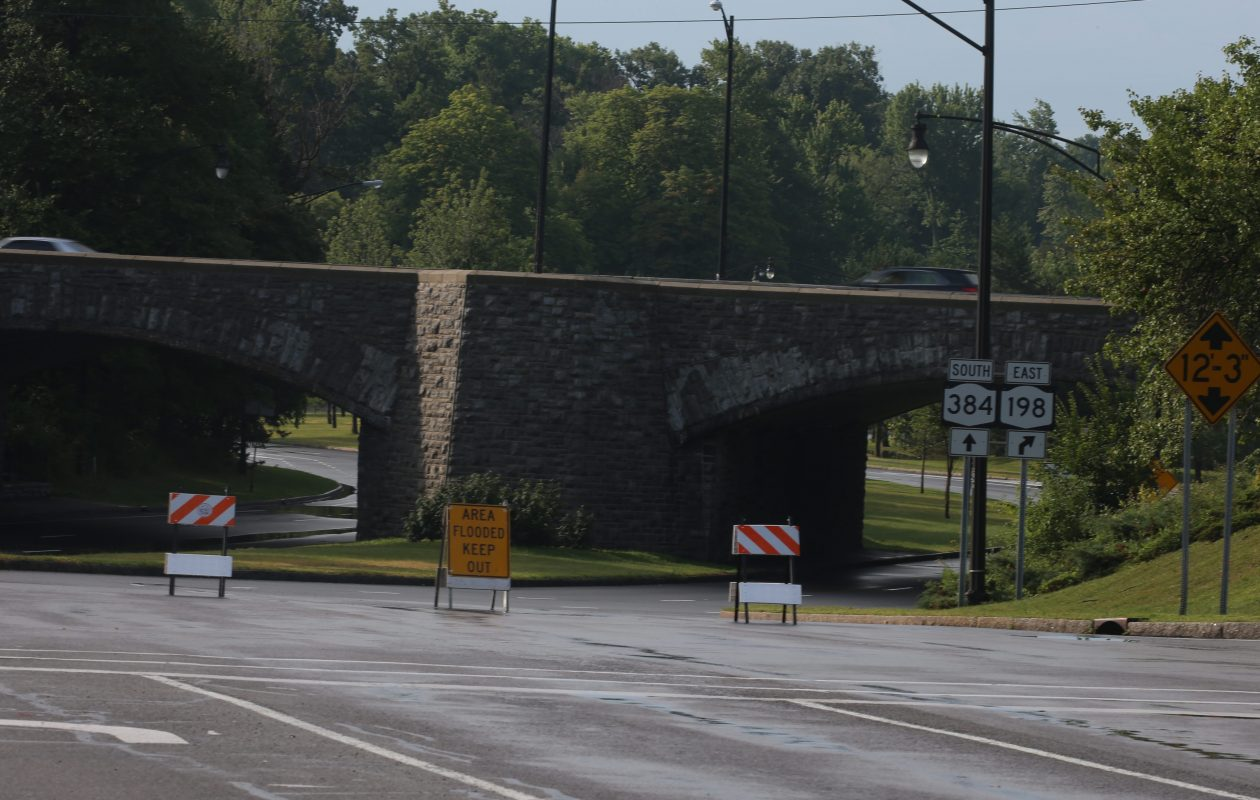 A motorist was killed late Thursday when his vehicle crashed into the abutment at the Delaware S-curves, shown here in a file photo. (News file photo)