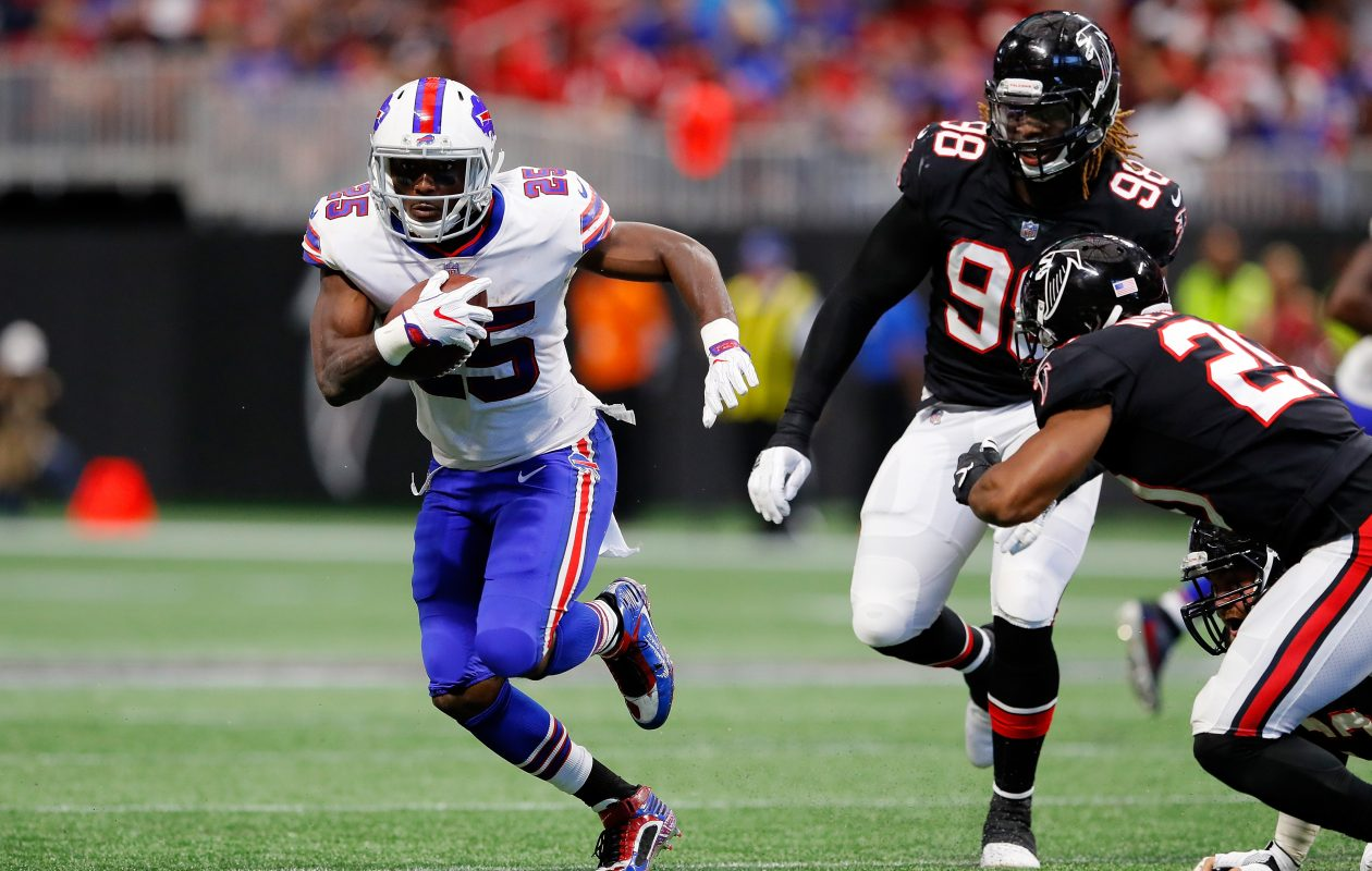 LeSean McCoy and the Buffalo Bills were big underdogs against the Atlanta Falcons on Sunday, but pulled off the upset. (Getty Images)