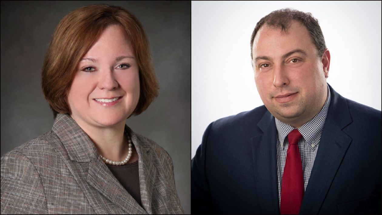 Amherst Town Clerk Marjory H. Jaeger, left, and Williamsville Mayor Brian J. Kulpa are vying to be the next town supervisor.