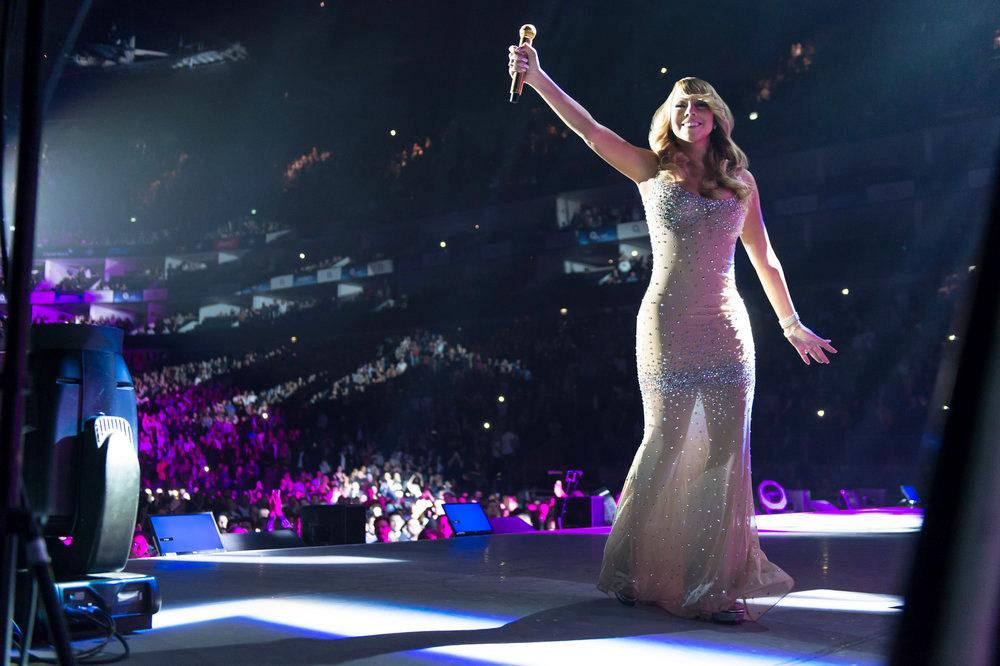 Mariah Carey, here performing in London, will appear at Seneca Niagara Resort and Casino in November. (Ian Gavan, E! Entertainment)