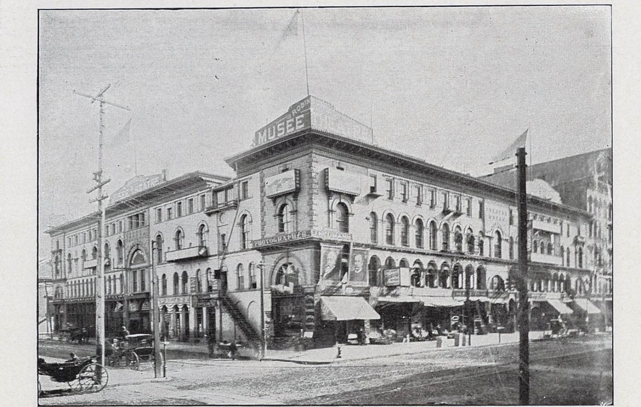"""The Palace Arcade as depicted in """"Buffalo: Old and New."""""""