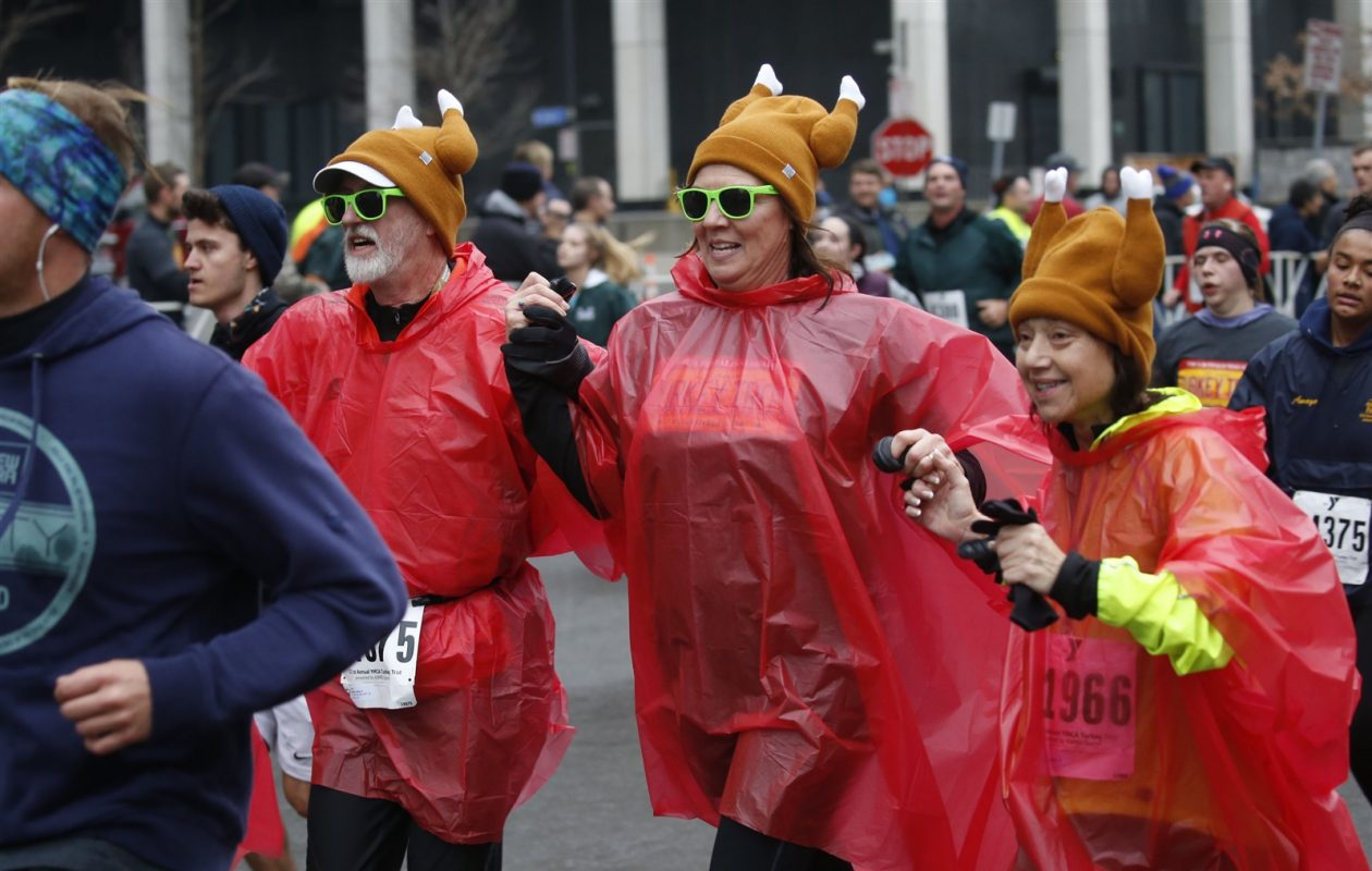 The finish line at the 2016 Buffalo Turkey Trot. (Robert Kirkham/News file photo)