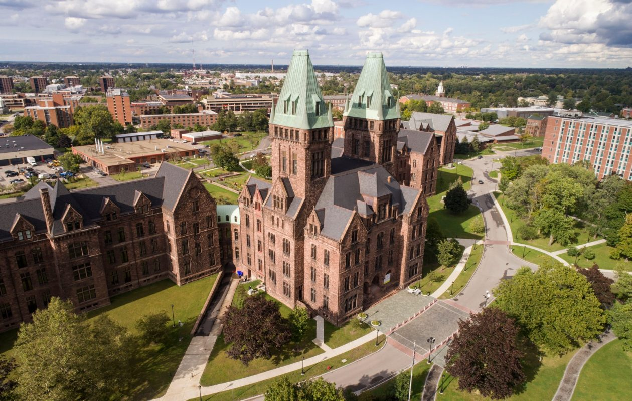 Nearly 70 historic properties in Buffalo – including  the H.H. Richardson Complex – sprang back to life with the help of historic preservation tax credit which would be eliminated in the House tax bill and cut in half in the Senate plan. (Derek Gee/Buffalo News)