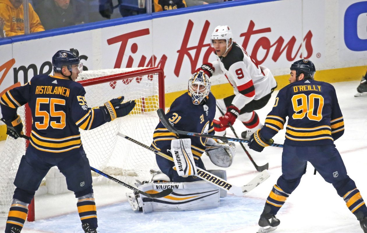 Rasmus Ristolainen and Ryan O'Reilly are still together on the power play, but the Sabres have different units. (Robert Kirkham/News file photo)