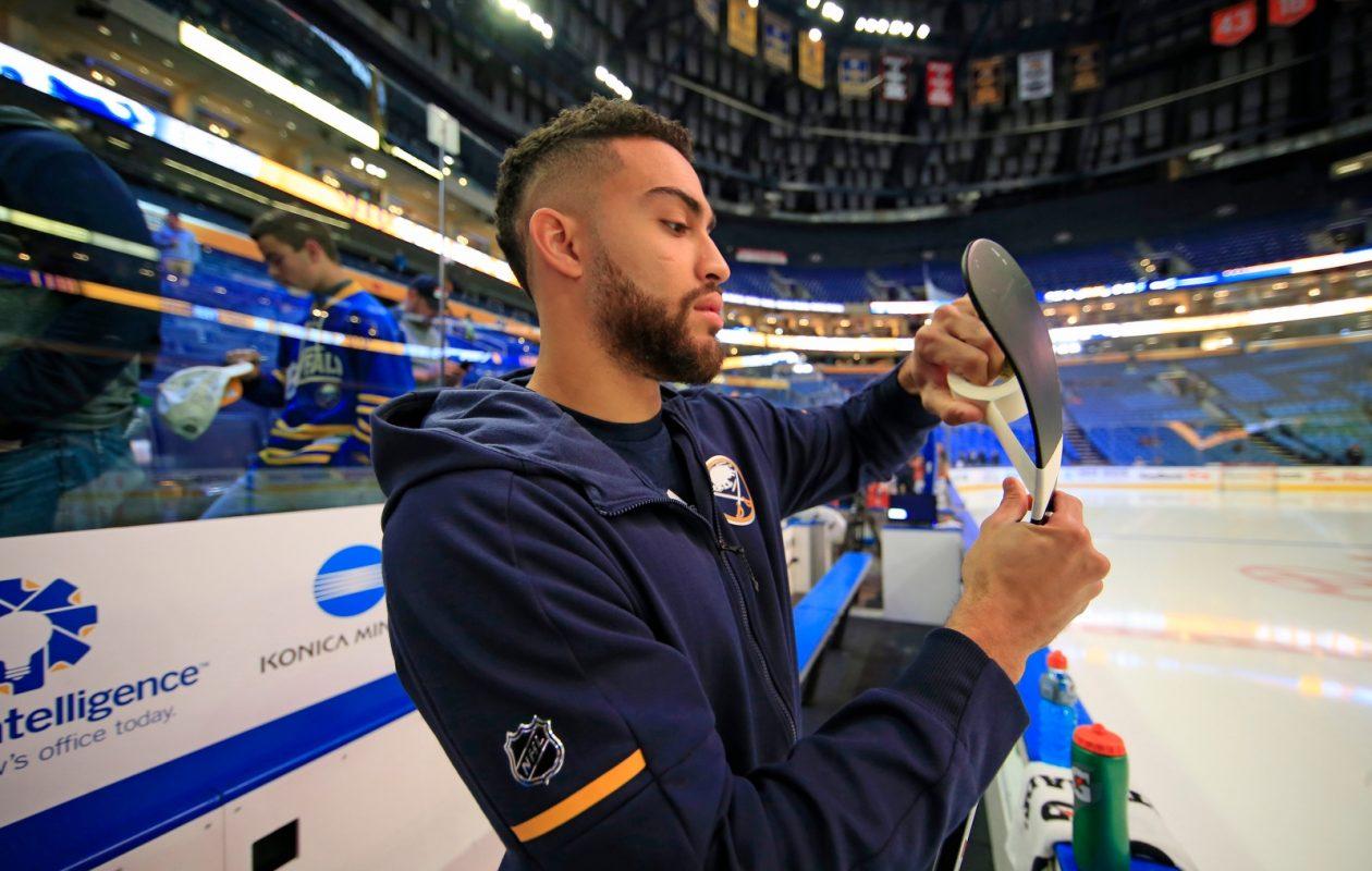 Sabres forward Justin Bailey will miss his third straight game Tuesday when Washington visits Buffalo. (Harry Scull Jr./Buffalo News)