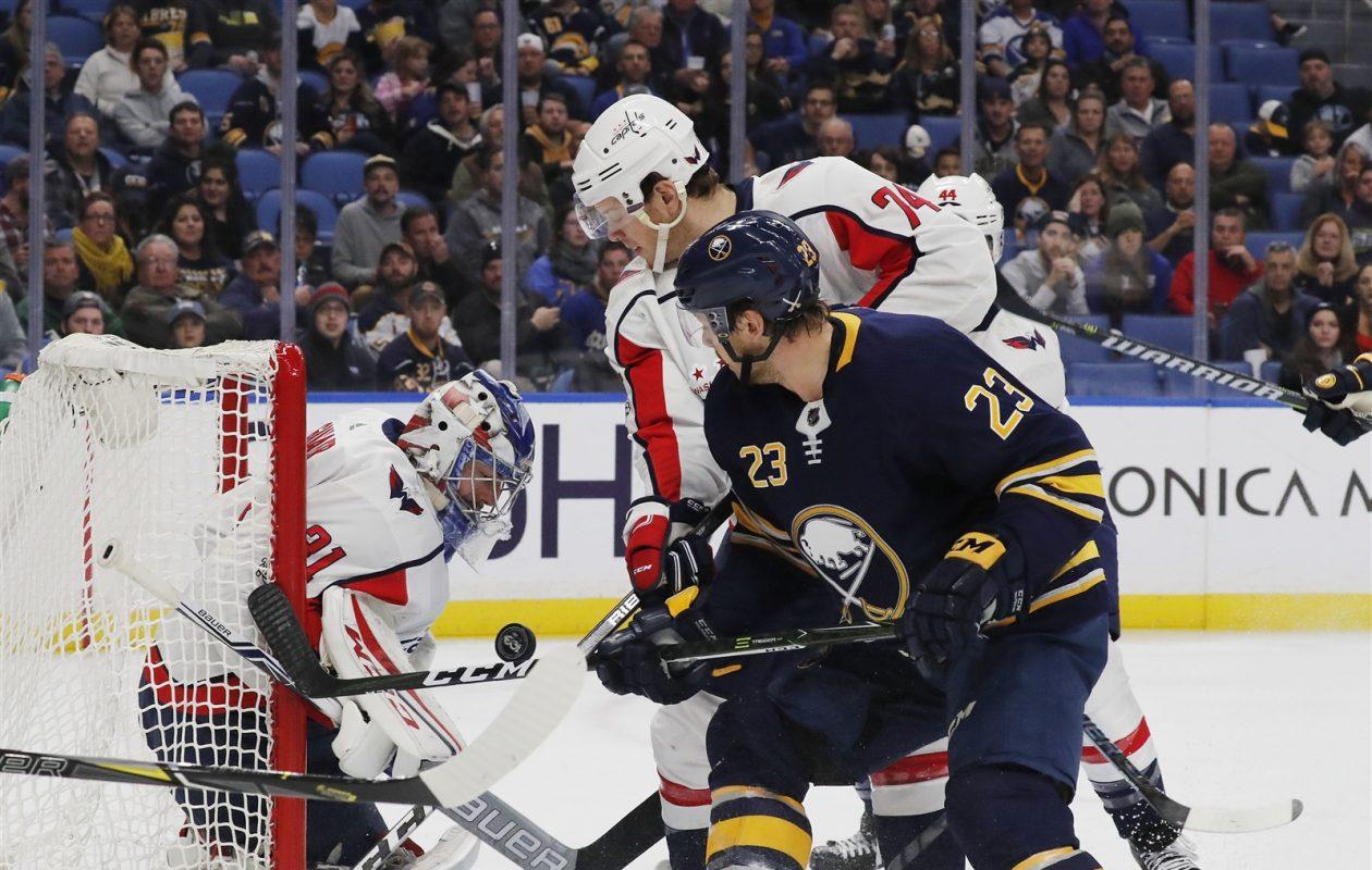 Sam Reinhart tied his season high Tuesday with four shots against Washington, but goals remain elusive. (Mark Mulville/Buffalo News)
