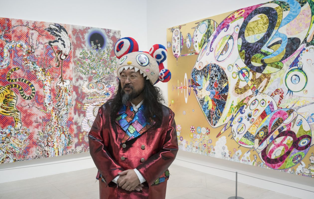 Acclaimed Japanese artist Takashi Murakami attends a ceremony to officially open his new exhibit 'The Deep End of the Universe' at the Albright-Knox Art Gallery, Thursday, Nov. 9, 2017.  (Derek Gee/Buffalo News)