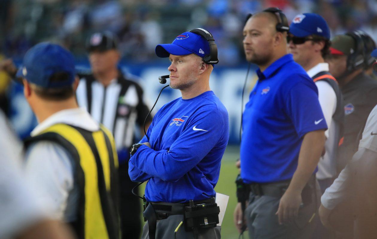 Buffalo Bills coach Sean McDermott looks on during the fourth quarter (Harry Scull Jr./ Buffalo News)