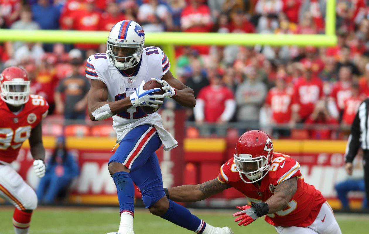Rookie Zay Jones caught three passes Sunday in the Bills' 16-10 win over the Chiefs. (James P. McCoy/Buffalo News)