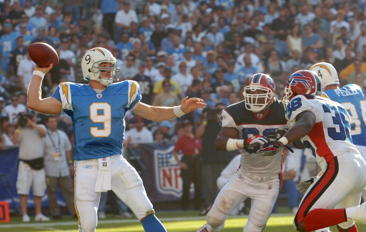 The Bills won their first meeting with Drew Brees, when he quarterbacked San Diego, but Brees has won the last three encounters, beginning with this 2005 matchup. (James P. McCoy/Buffalo News)