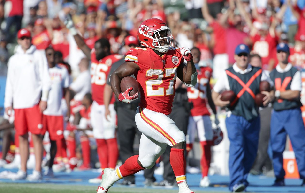 Kareem Hunt and the Kansas City Chiefs head to Dallas for a tussle with the Cowboys. (Getty Images)