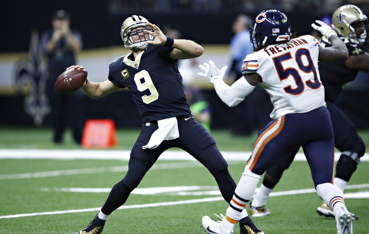 Drew Brees is used to warmer conditions for games than the Buffalo cold. (Getty Images)