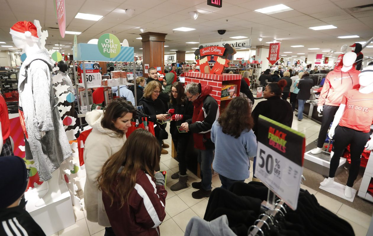 The JCPenney at McKinley Mall in Blasdell was busy on Black Friday last November, but retailers still face broad challenges that are even being felt in the real estate market. (Mark Mulville/Buffalo News file photo)