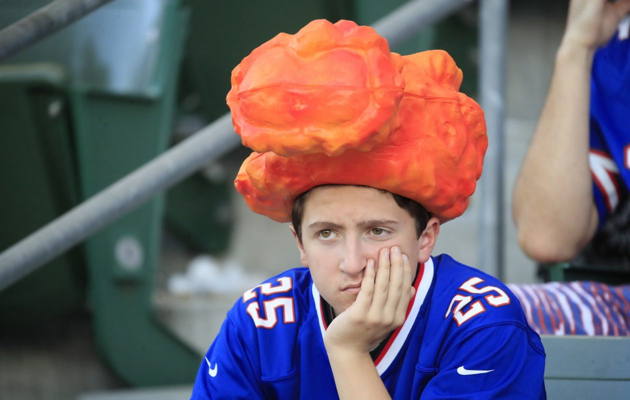 Every Bills fan on Sunday. (Harry Scull Jr./ Buffalo News)