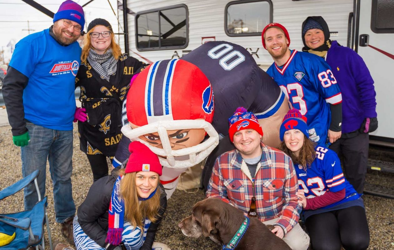 These Bills fans were spotted tailgating on Nov. 12, 2017. (Don Nieman/Special to The News)