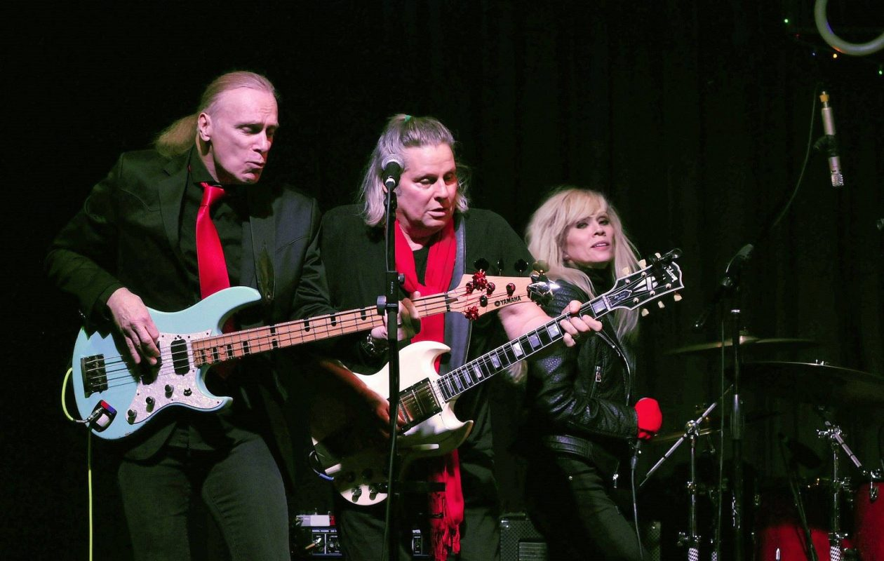 L to r: Billy Sheehan, Bobby Lebel, Jessie Galante. They'll convene for the MOB Christmas Party at the Tralf on Dec. 8.