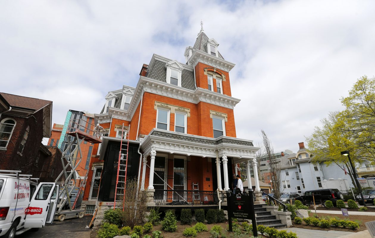 Workers prepare for  Decorators' Show House at 766 Elliott St. last April, shortly before it opened for its three-week run.          (Mark Mulville/News file photo)