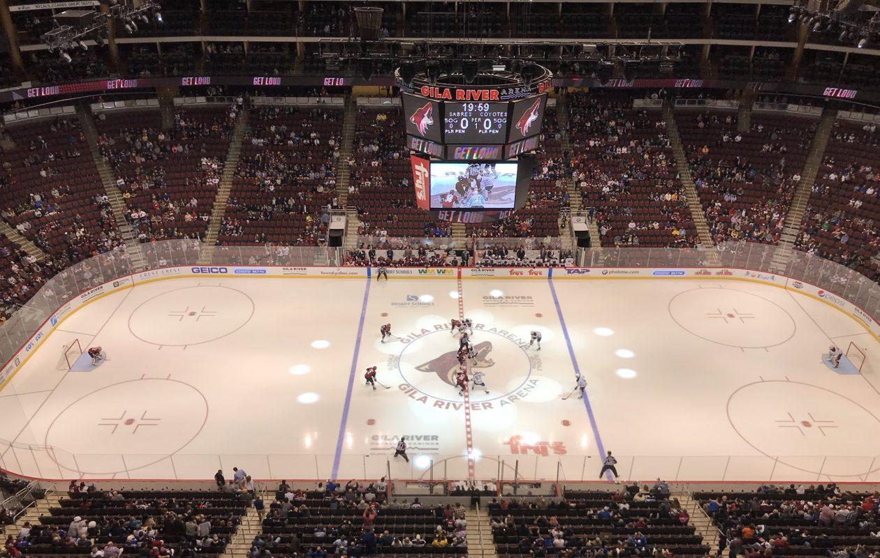 The Buffalo Sabres face the Coyotes in Arizona on Thursday night. (John Vogl/Buffalo News)