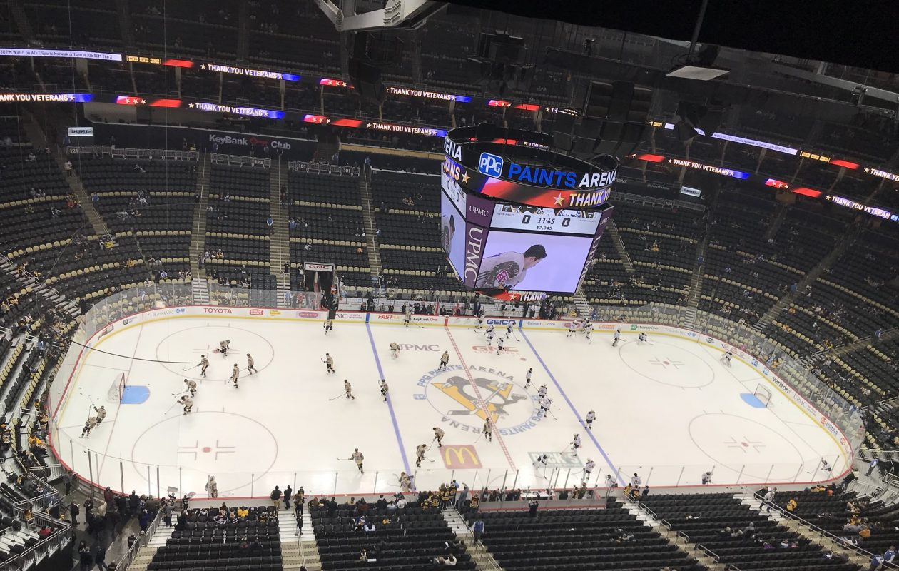 The Buffalo Sabres face the Pittsburgh Penguins Tuesday night. (John Vogl/Buffalo News)