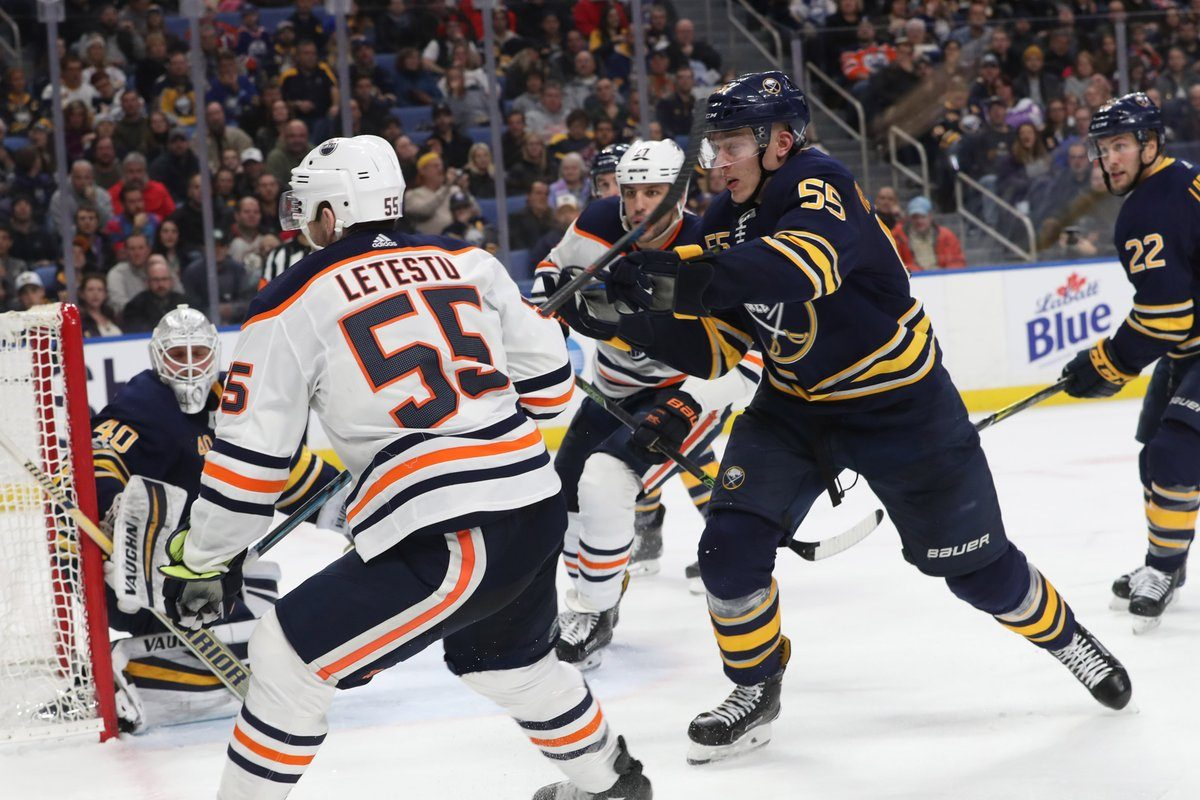 The Sabres' Rasmus Ristolainen skated 27:32 and had two assists against Edmonton in his return from injury Friday. (Sharon Cantillon/Buffalo News)