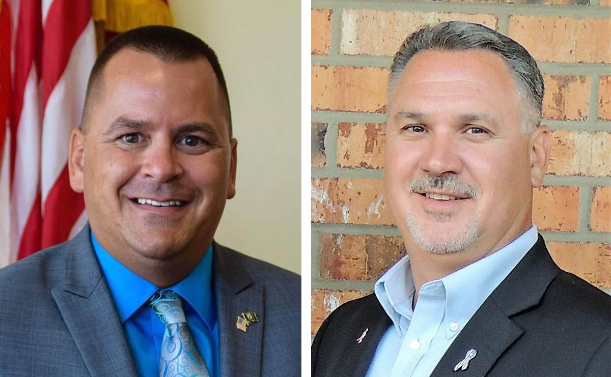Rick Davis, left, and Tim Toth agree that the City of Tonawanda mayor's race has gotten nasty.