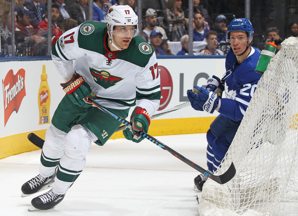 Marcus Foligno is getting used to coach Bruce Boudreau's demands in Minnesota (Getty Images).