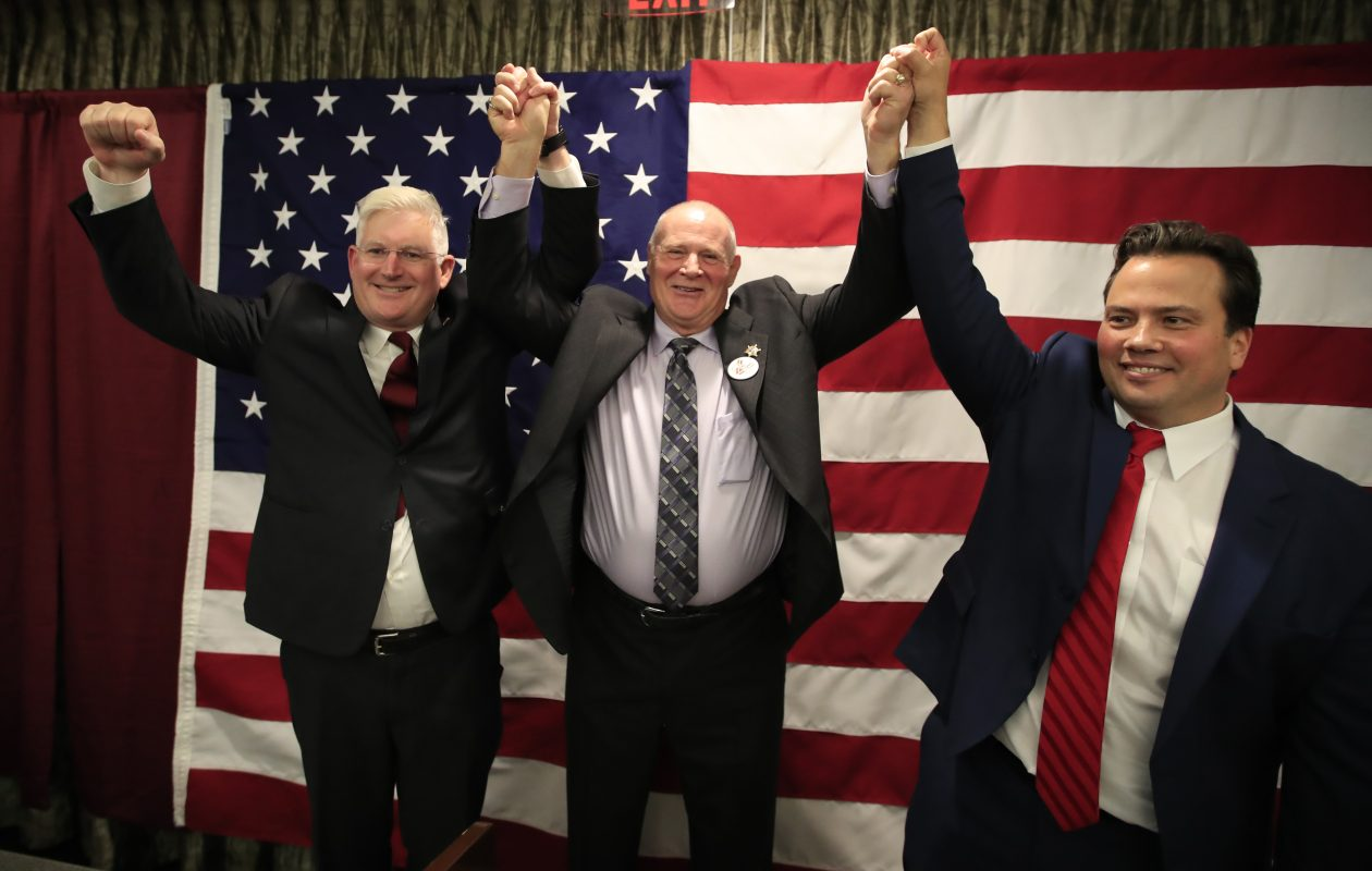 Michael Kearns,Timothy Howard  and and Stefan Mychajliw  scored victories on Election Day. (Harry Scull Jr./ Buffalo News)