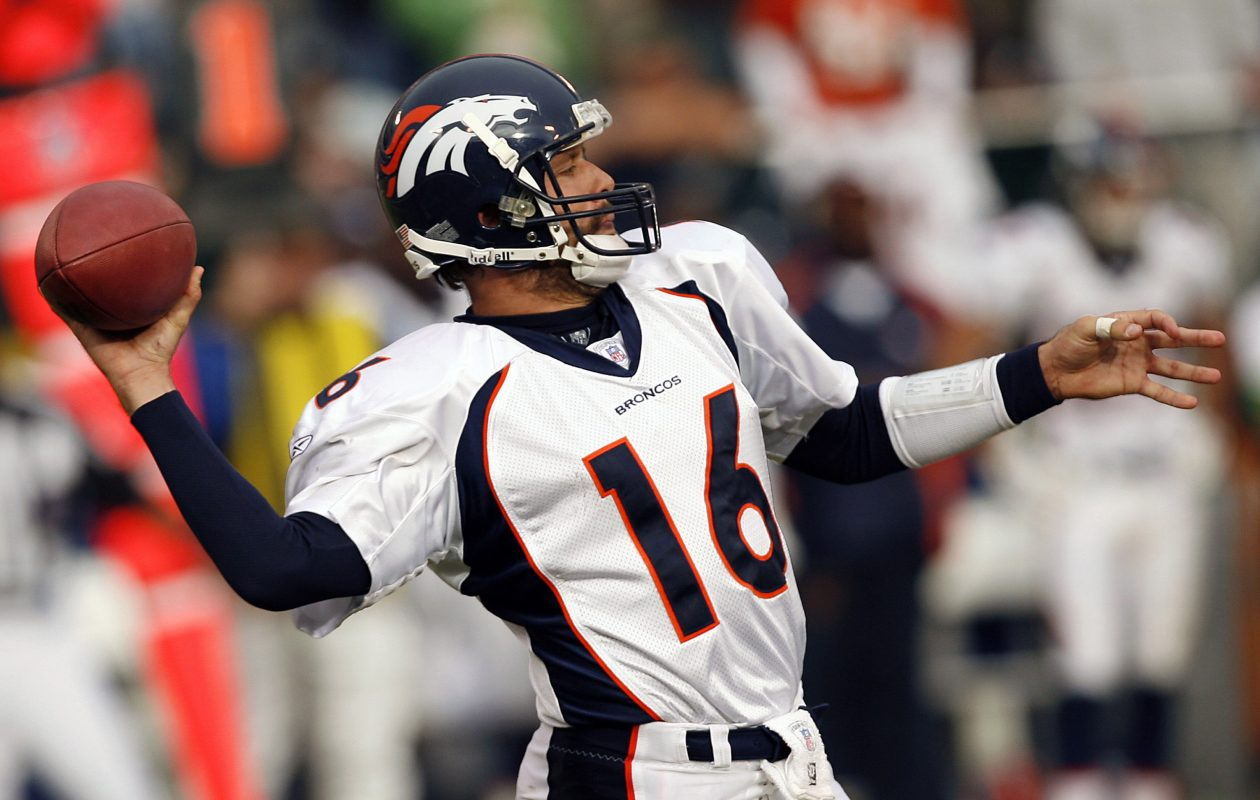 Broncos quarterback Jake Plummer lost his job to rookie Jay Cutler in 2006 (Robert B. Stanton/NFLPhotoLibrary)