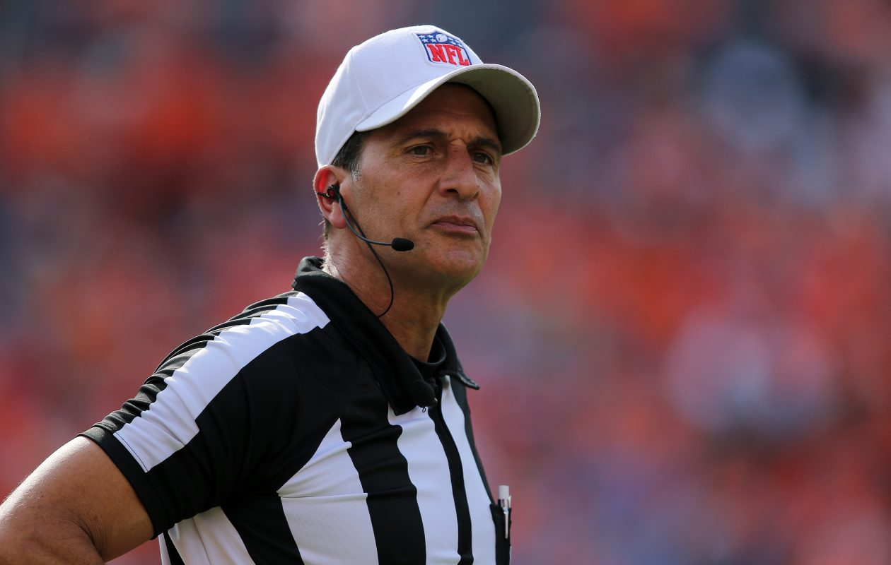 Referee Gene Steratore has been assigned Sunday's Bills-Patriots game at New Era Field. (Doug Pensinger/Getty Images)