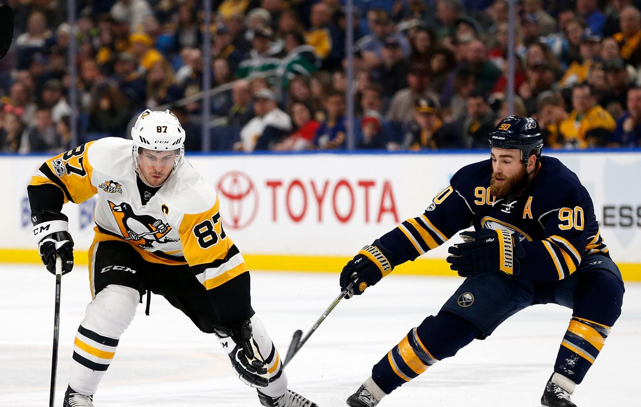 The Penguins' Sidney Crosby has 12 goals and 42 points in his last 26 games against Ryan O'Reilly and the Sabres. (Getty Images)