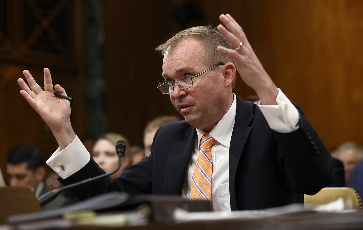 Office of Management and Budget Director Mick Mulvaney spent a significant share of a 45-minute session with regional reporters Nov. 14, not pictured here, fending off questions from reporters from New York and New Jersey. (Win McNamee/Getty Images file photo)
