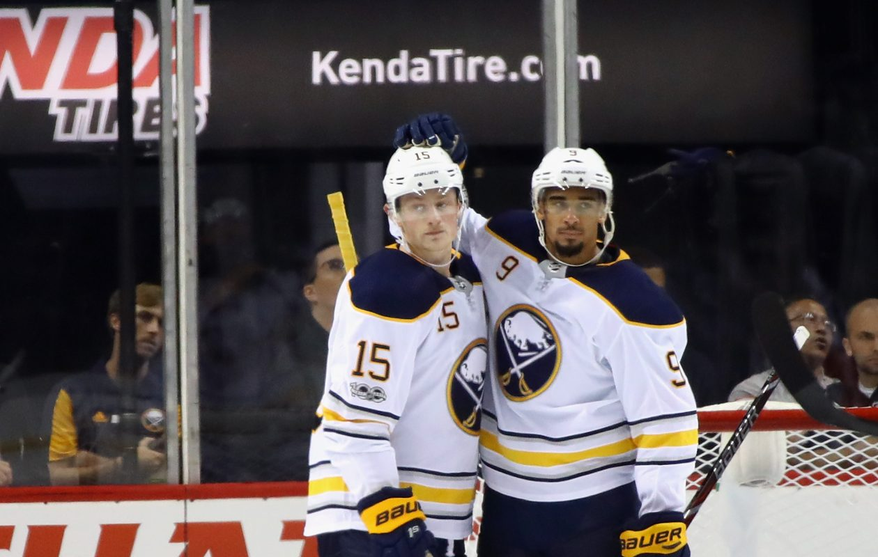 Jack Eichel, left, and Evander Kane have given the Sabres' short-handed unit an offensive boost. (Getty Images)