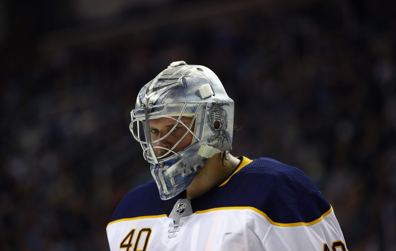Although the game had a frantic finish, Sabres goalie Robin Lehner liked that Buffalo didn't panic Thursday. (Getty Images)