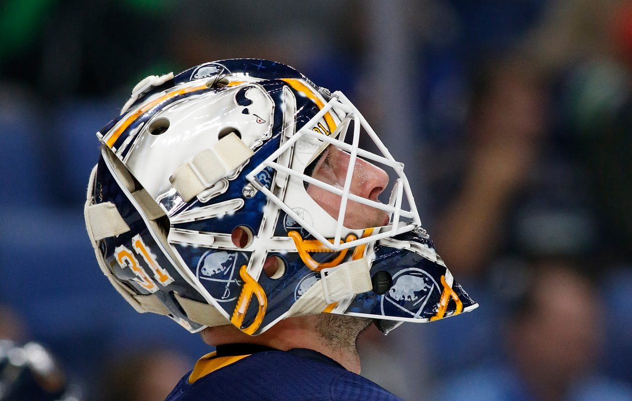Sabres goaltender Chad Johnson knows he's not alone in losing relatives to cancer. (Getty Images)